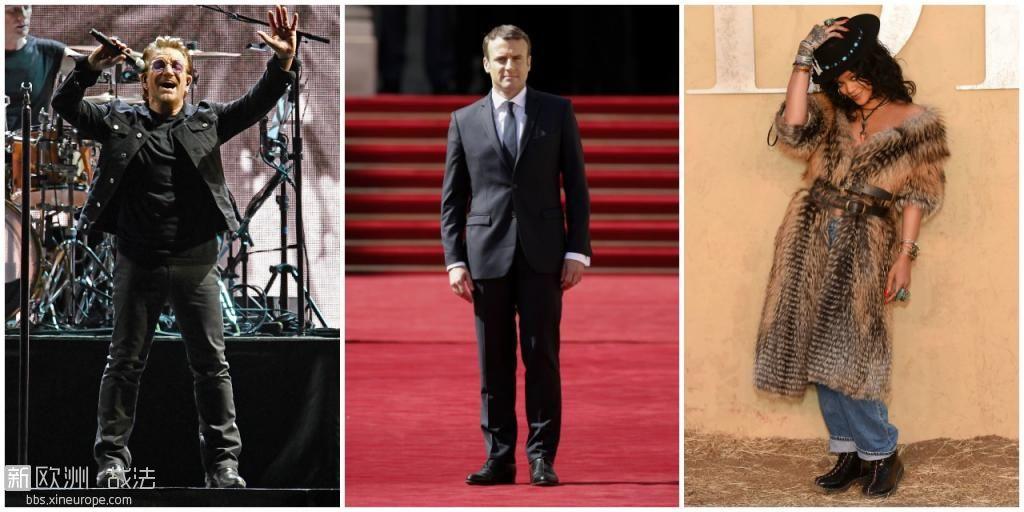 法国总统马克龙将在爱丽舍宫接见蕾哈娜