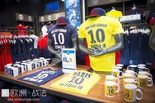 巴黎新明星内马尔球衣一周卖两万件还不够!